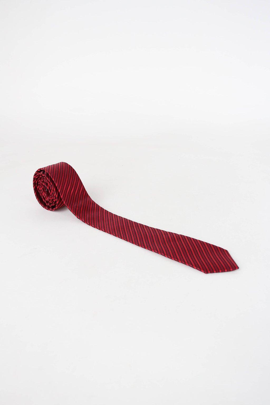 Gravata rovest masculina vermelha listrada