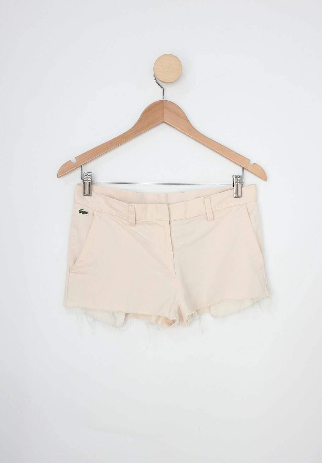 Shorts Lacoste Feminino Bege