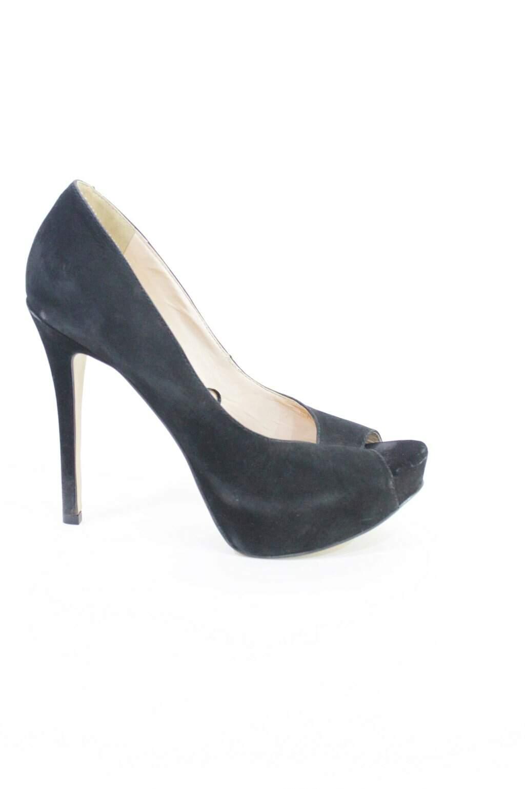Sapato Preto Nobuck Satinato