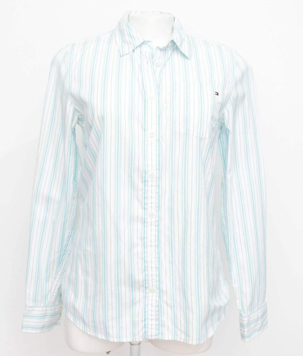 Camisa Branca Listrada Tommy Hilfiger