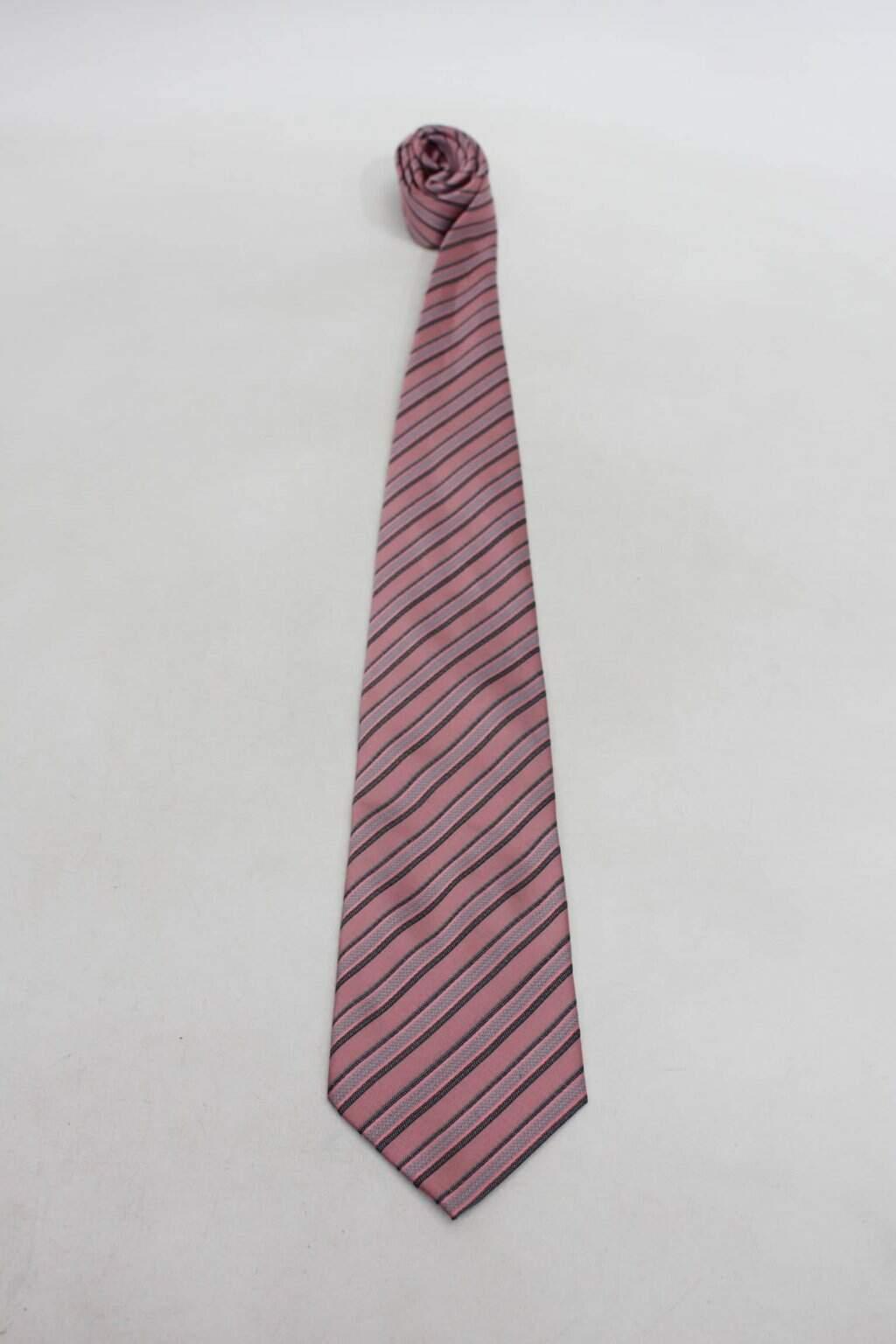 Gravata rosa listrada tng