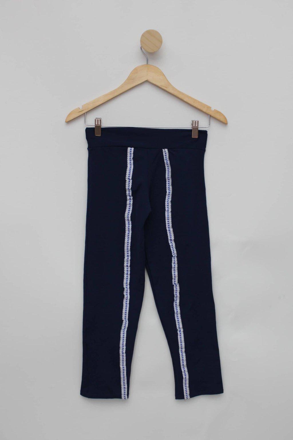 Calca Legging azul com fita magazine montinegro