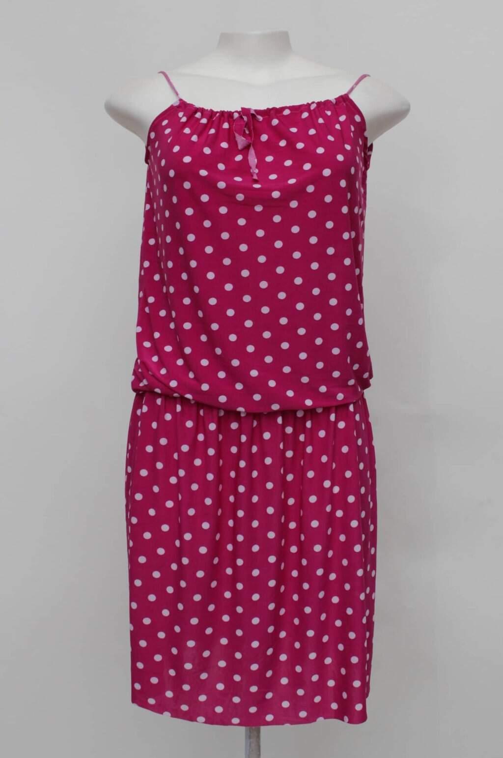 Vestido poas rosa magazine montinegro
