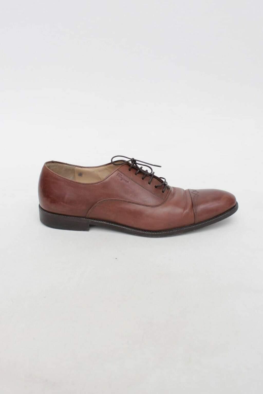 Sapato  de Couro Marrom Salvatore Ferragamo