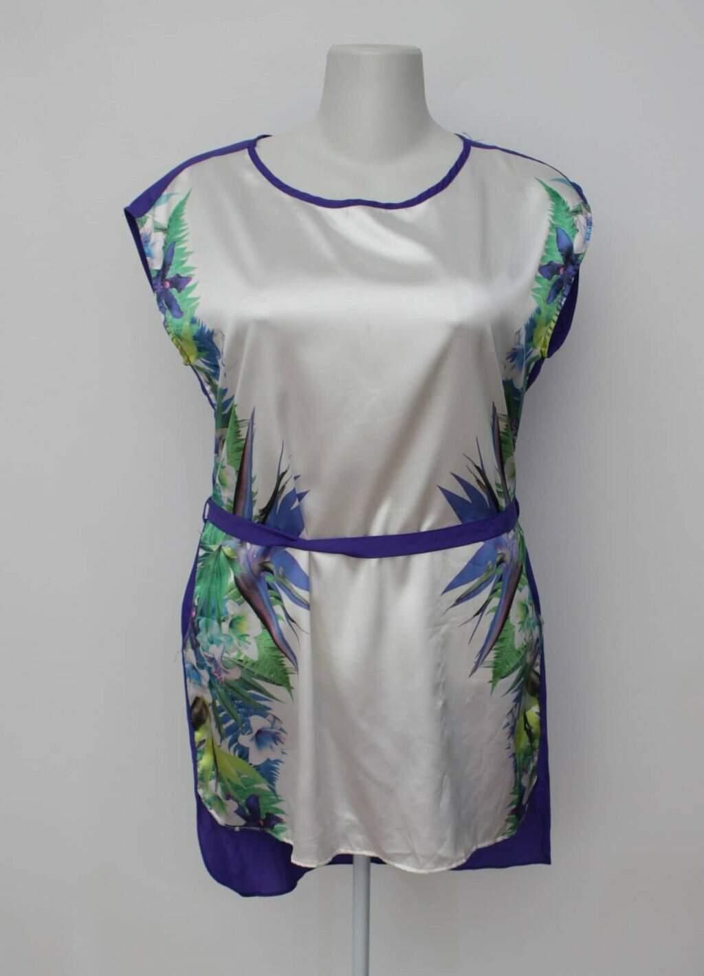 Vestido jasming feminino estampado com Faixa na Cintura