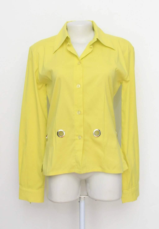 Camisa caos feminina amarela
