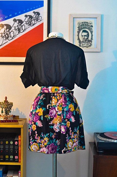 Vestido Preto Floral _foto de frente