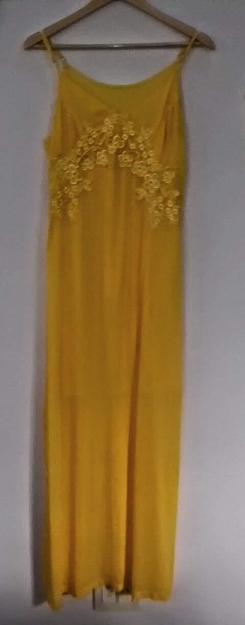 Vestido longo Amarelo_