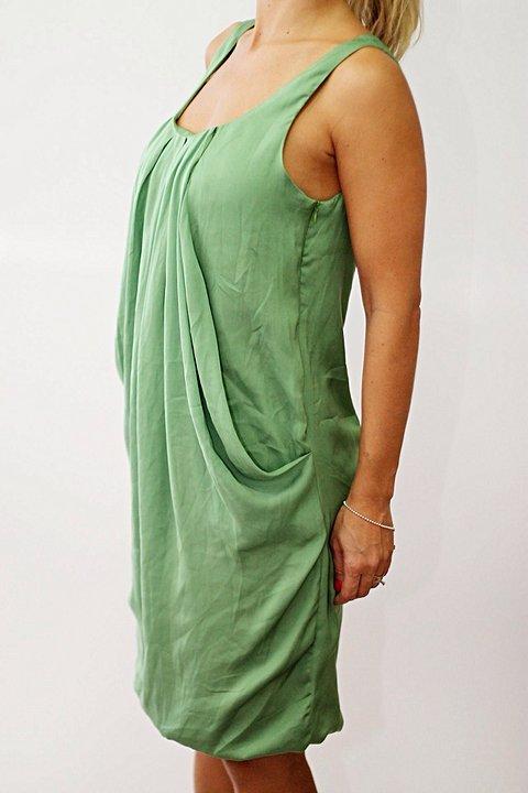 Vestido Verde de Cetim_foto principal