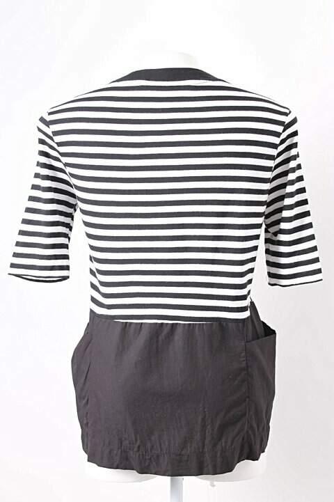 Blusa Listrada com Bolsos_foto de costas