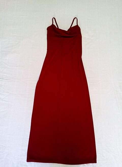 Vestido longo vinho_