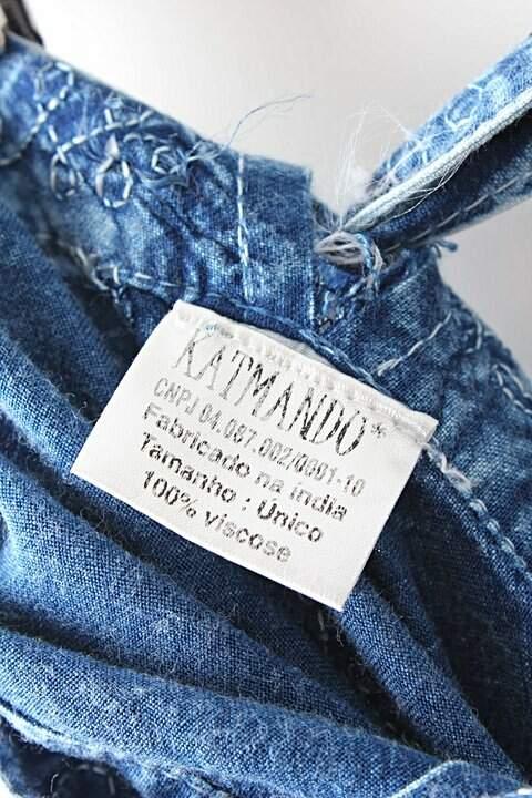 Saia Amarração Jeans_foto de costas