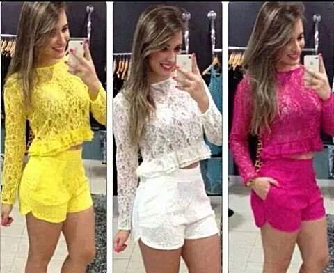 CONJUNTINHO DE RENDA AMRELO_