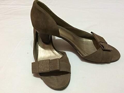 Sapato Marrom Salto Baixo_