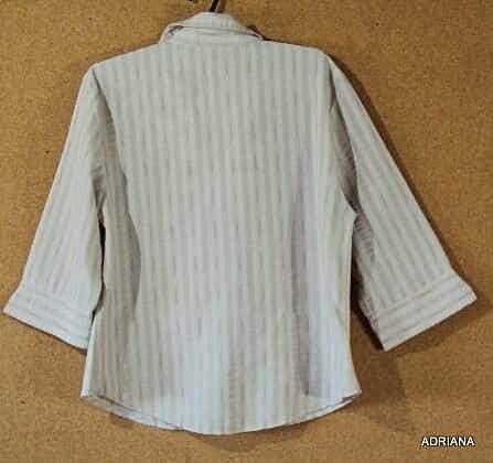 Camisa bege e marrom _foto de frente