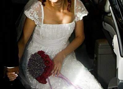 Vestido de Noiva Rendado_foto de frente