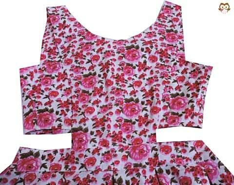 Vestido Rosa Recortes_foto de frente