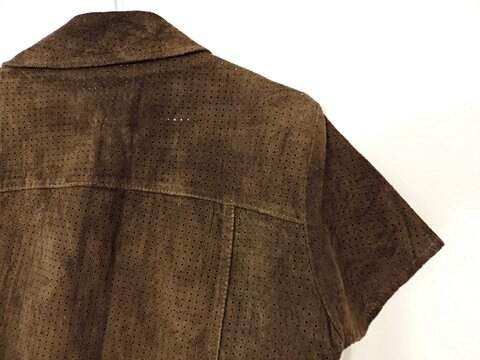 Blusa de couro_foto de costas
