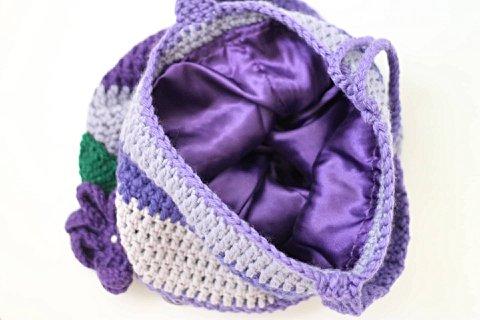 Bolsa de Crochê Artesanal Roxa_