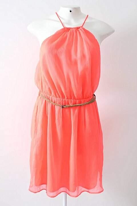 Vestido Rosa Neon Zara_foto principal