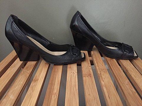 Sapato Preto Dunes_foto de frente
