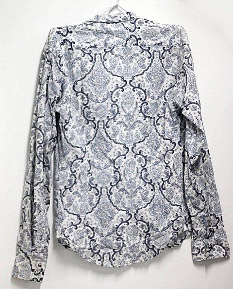 Camisa Masculina Zara Porcelain Print _
