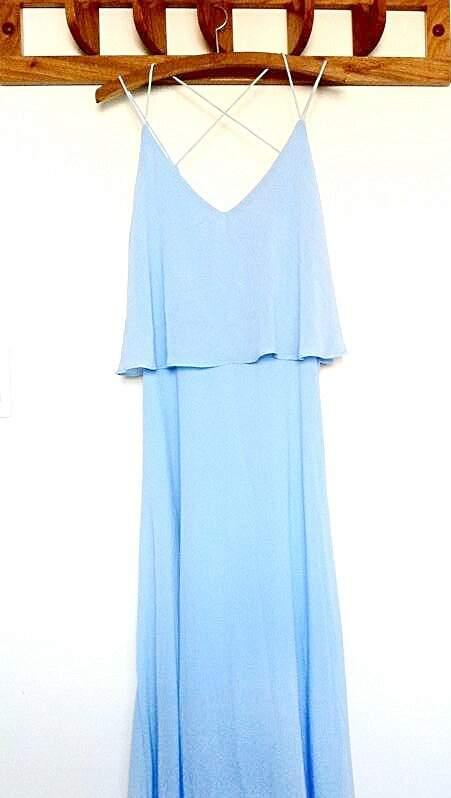 Vestido Longo Azul-Céu_foto de costas