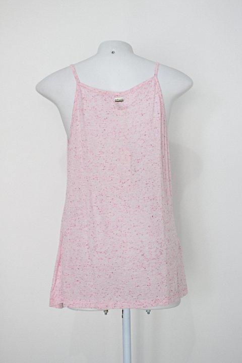 Regata quintess feminina rosa estampada_foto de costas