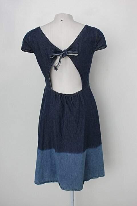 Vestido marisa feminina azul_foto de costas