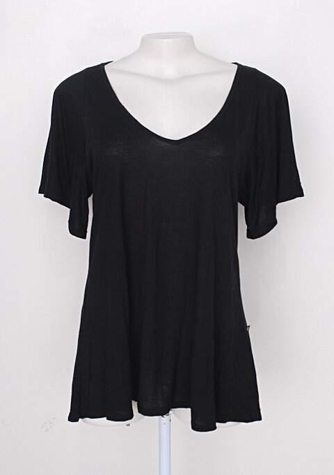 Blusa feminina preta de viscose_foto principal