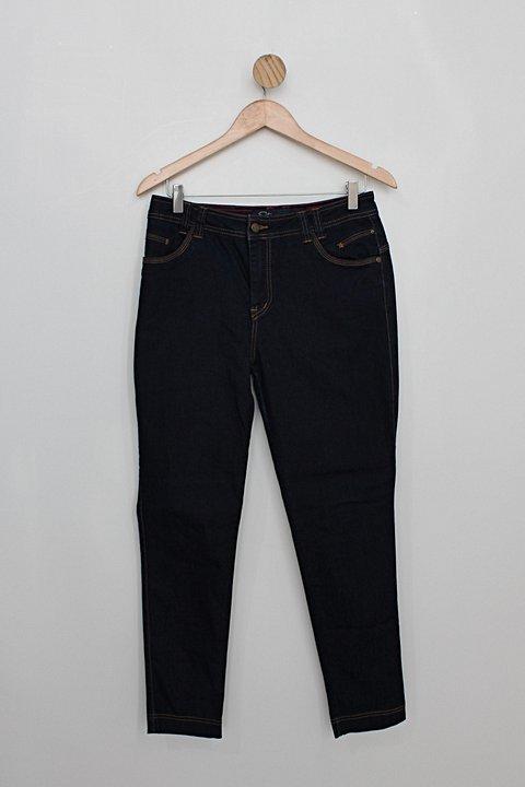 Calça Jeans estravaganzza feminina azul escuro_foto principal