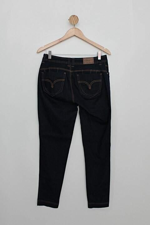 Calça Jeans estravaganzza feminina azul escuro_foto de costas