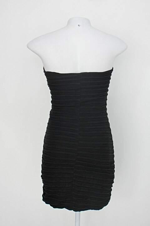 Vestido tomara que caia c&a feminino preto_foto de costas