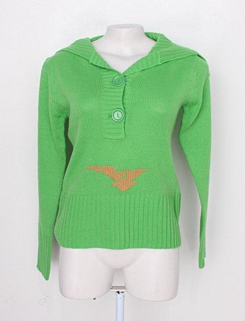 Blusa de tricô argonaut feminina verde_foto principal