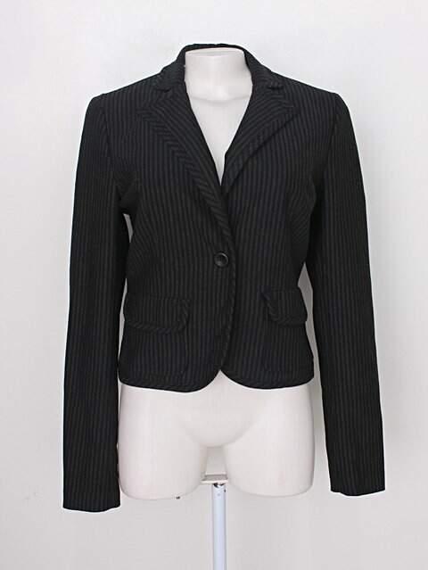 Blazer zara feminino preto listrado com forro_foto principal