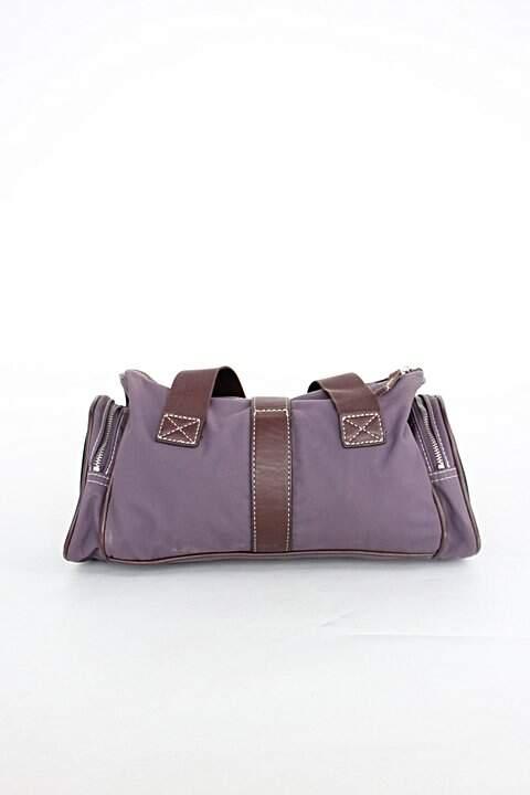 Bolsa crnl tpca feminina roxo uva e marrom com Forro_foto de costas