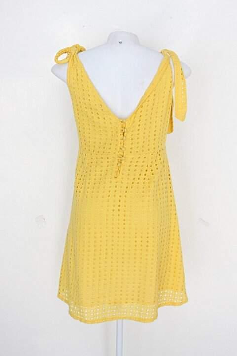 Vestido riachuelo feminino amarelo_foto de detalhe