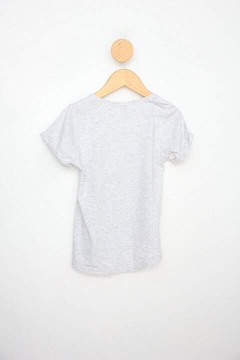 Camiseta Infantil disney cinza com paete _foto de costas
