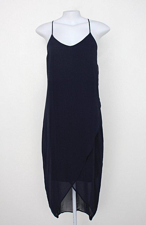 Vestido h&m feminino azul com Tule_foto principal