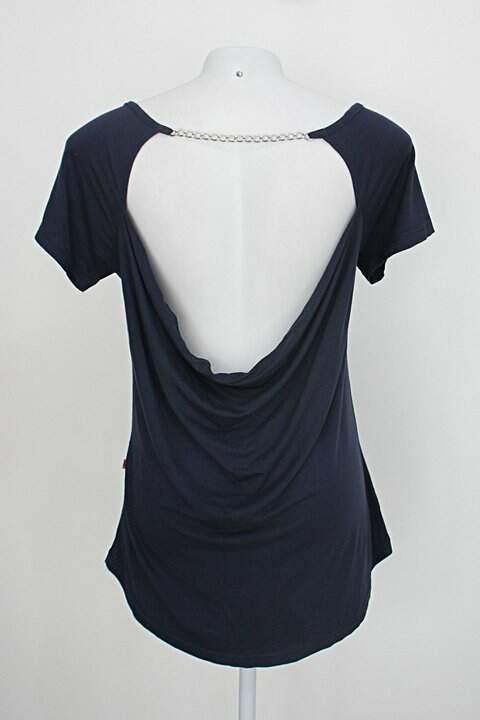 Blusa feminina.com feminina azul_foto de costas