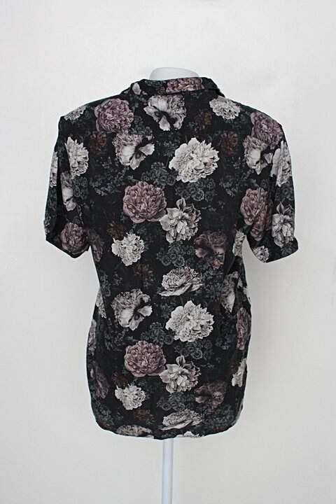 Camisa riachuelo feminina estampada floral_foto de costas