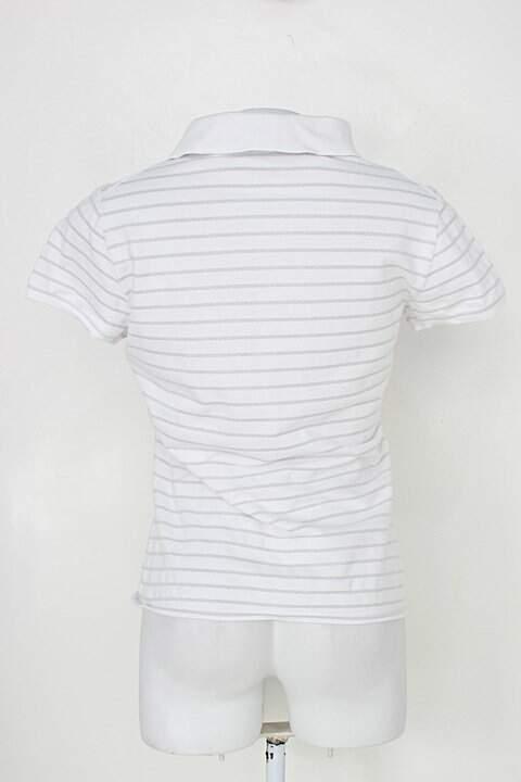 Polo feminina amarração branca Armani_foto de detalhe
