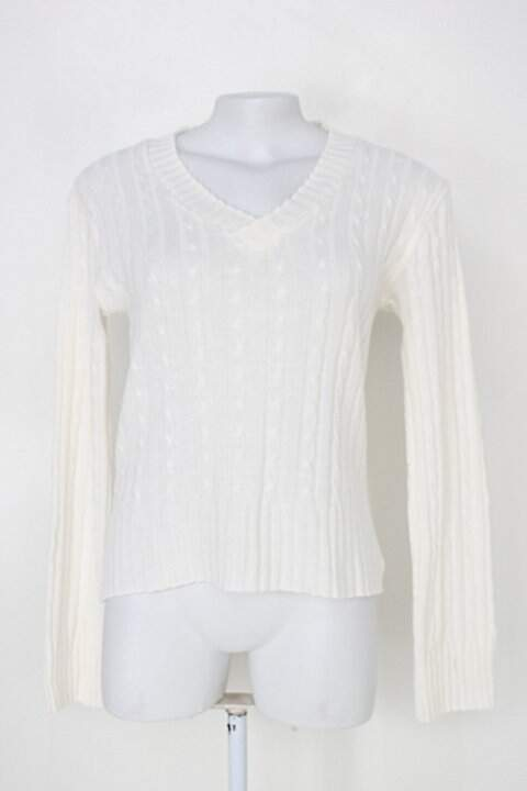 Suéter feminina off-white gola v_foto principal