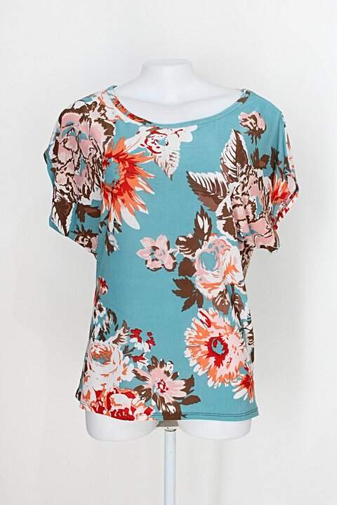 Blusa blusa rosa feminina colorida estampada_foto principal