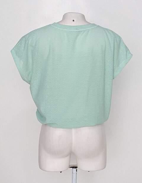 Blusa marisa feminina verde_foto de costas