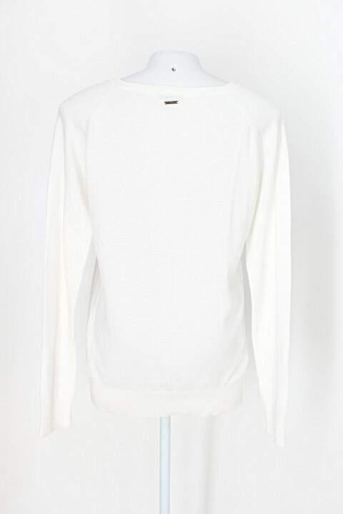 Suéter riachuelo feminino branco_foto de costas