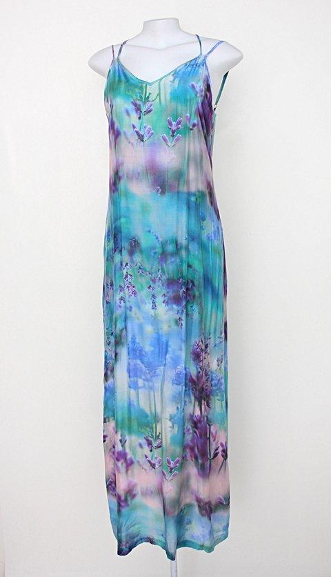 Vestido Longo feminino azul estampado enjoy_foto principal