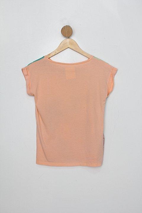 Blusa Infantil mango estampada_foto de costas