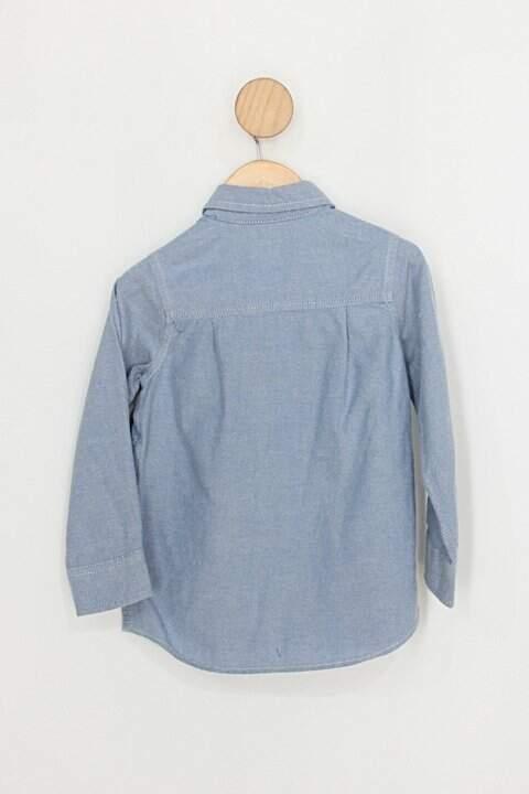 Camisa Infantil oshkosh azul_foto de costas