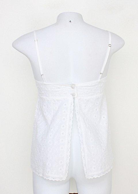 Regata Laise feminina branca folic_foto de costas